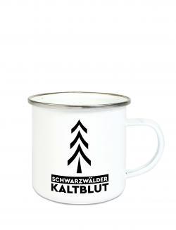 puranda EMAILLE TASSE SCHWARZWÄLDER KALTBLUT - 300 ml