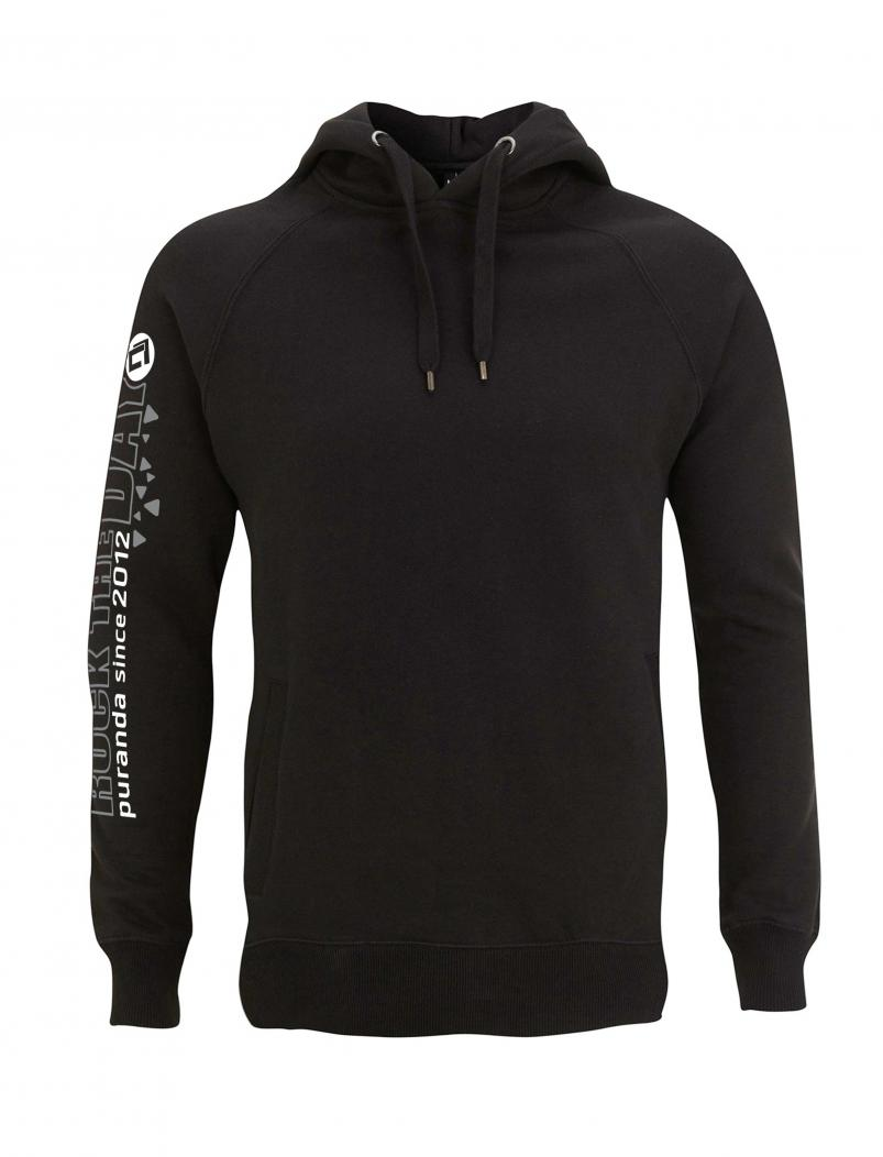 puranda Hoodie Rock the Day - schwarz - vorne