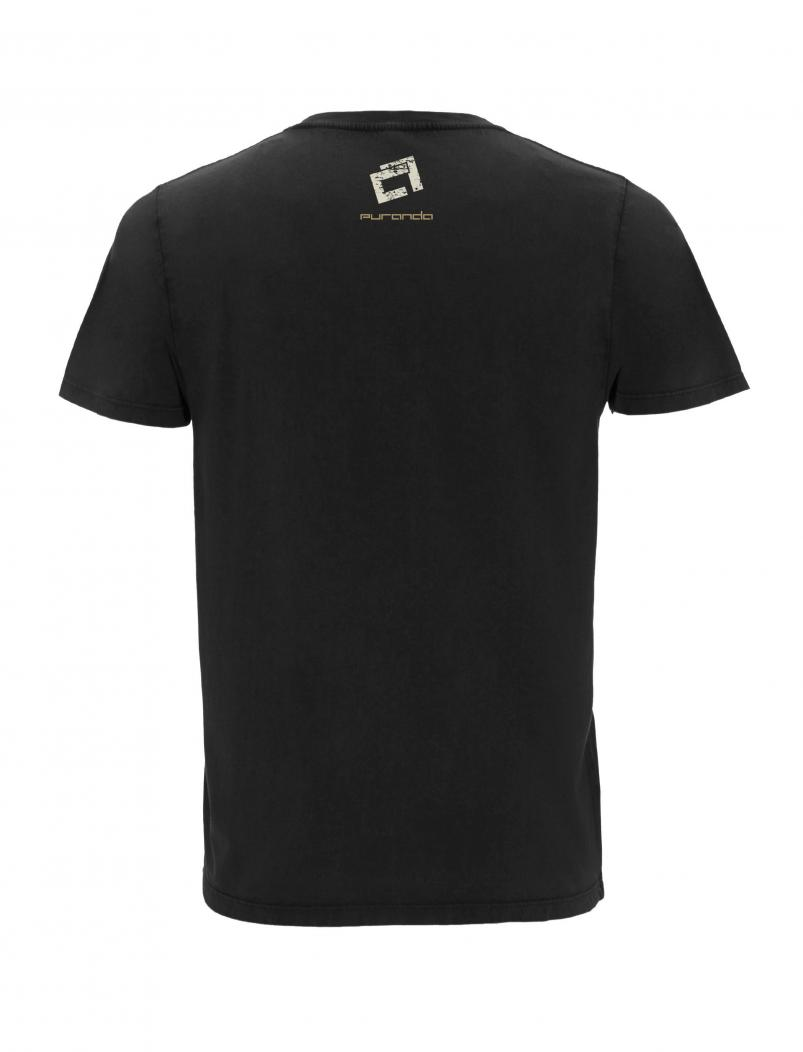 puranda T-Shirt - Born in Bavaria - stone washed black - hinten