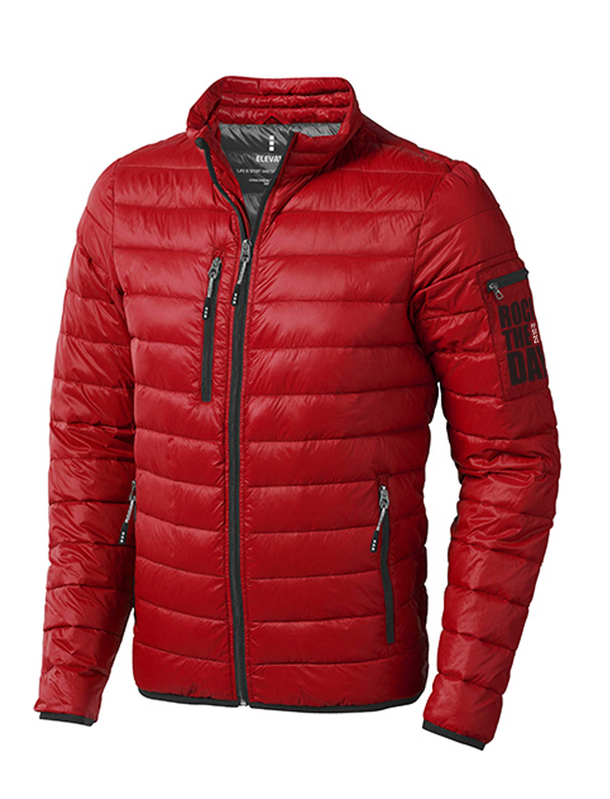 detailing 50b7b bf905 Winddichte leichte Daunenjacke ROCK THE DAY in rot für ...
