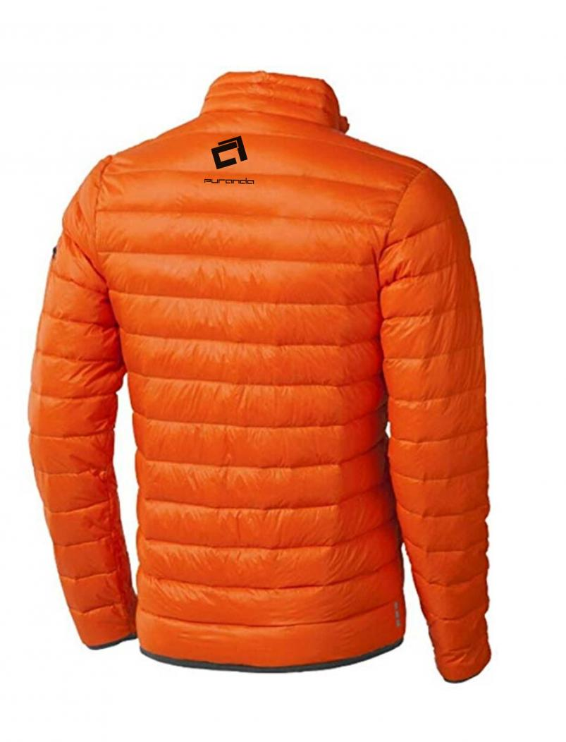 Daunenjacke Rock the Day - orange - hinten