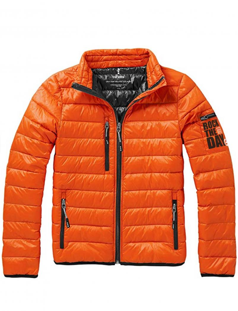Daunenjacke Rock the Day - orange - Schnitt