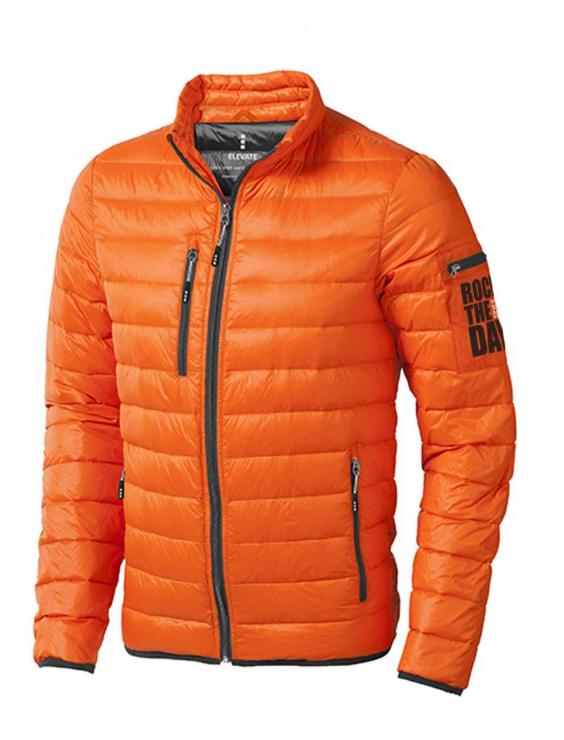 Daunenjacke Rock the Day - orange - vorne