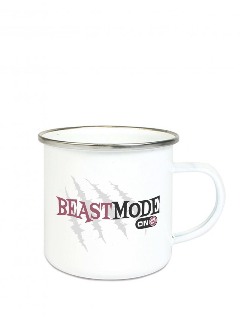 Emaille Becher Beastmode - 300 ml - rot