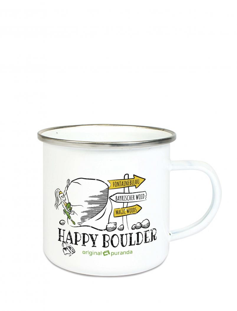 Emaille Becher HAPPY BOULDER für Damen - 300 ml