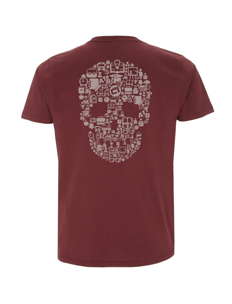puranda T-Shirt - Schoolskull - stone washed burgundy - hinten